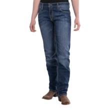 Wrangler Rock 47 Boyfriend Fit Jeans - Mid Rise, Straight Leg (For Women) in Little Rock - 2nds