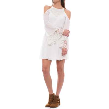 Wrangler Rock 47 Cold-Shoulder Lace Dress - Long Sleeve (For Women) in White - Closeouts