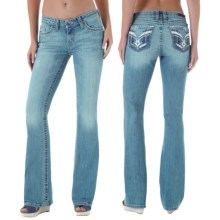Wrangler Rock 47 Embellished Jeans - Bootcut, Low Rise (For Women) in Cb Wash - 2nds