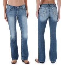 Wrangler Rock 47 Embellished Jeans - Bootcut, Low Rise (For Women) in Dr Wash - 2nds