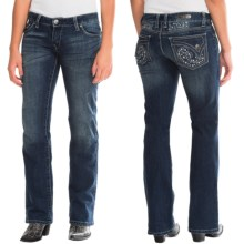 Wrangler Rock 47 Embellished Jeans - Bootcut, Low Rise (For Women) in Ev Wash - 2nds