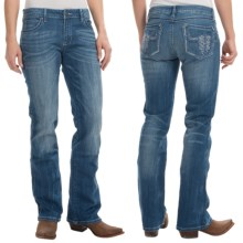 Wrangler Rock 47 Embellished Jeans - Bootcut, Low Rise (For Women) in Rhinestone Steer - 2nds