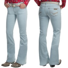 Wrangler Rock 47 Jeans - Flare Leg, Low-Rise (For Women) in Bleach Wash Blue - 2nds