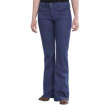 Wrangler Rock 47 Jeans - Flare Leg, Low-Rise (For Women) in Dark Blue - 2nds