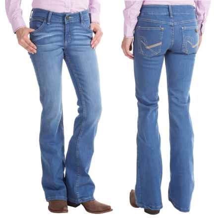 Wrangler Rock 47 Jeans - Flare Leg, Low-Rise (For Women) in Light Wash - 2nds
