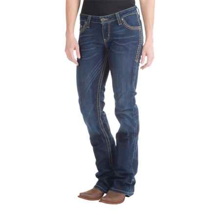 Wrangler Rock 47 Jeans - Flare Leg, Low-Rise (For Women) in Mid Stone - 2nds