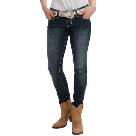 Wrangler Rock 47 Jeans - Low Rise, Skinny Leg (For Women) in Play Nice - 2nds
