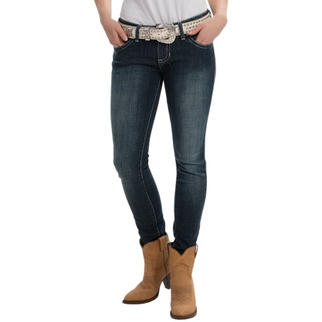 Wrangler Rock 47 Jeans Low Rise, Skinny Leg (For Women)