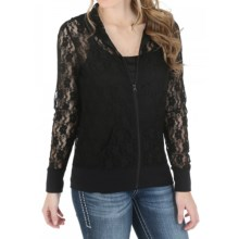 Wrangler Rock 47 Lace Hoodie (For Women) in Black - Closeouts