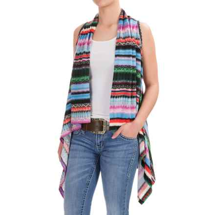 Wrangler Rock 47 Printed Sweater Vest (For Women) in Blackpoppy - Closeouts