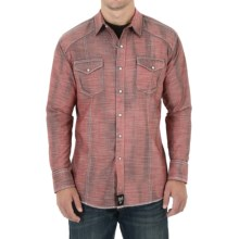 Wrangler Rock 47 Shirt - Snap Front, Long Sleeve (For Men) in Burgundy - Closeouts