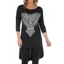 Wrangler Rock 47 Tunic Shirt - 3/4 Sleeve (For Women) in Black - Closeouts
