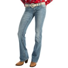 Wrangler Rock 47 Ultra Low Rise Jeans (For Women) in Cl Wash - 2nds
