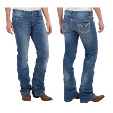 Wrangler Rock 47 Ultra Low Rise Jeans (For Women) in Fair Maiden - 2nds
