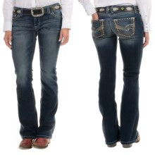 Wrangler Rock 47 Ultra Low Rise Jeans (For Women) in Ld Wash - 2nds