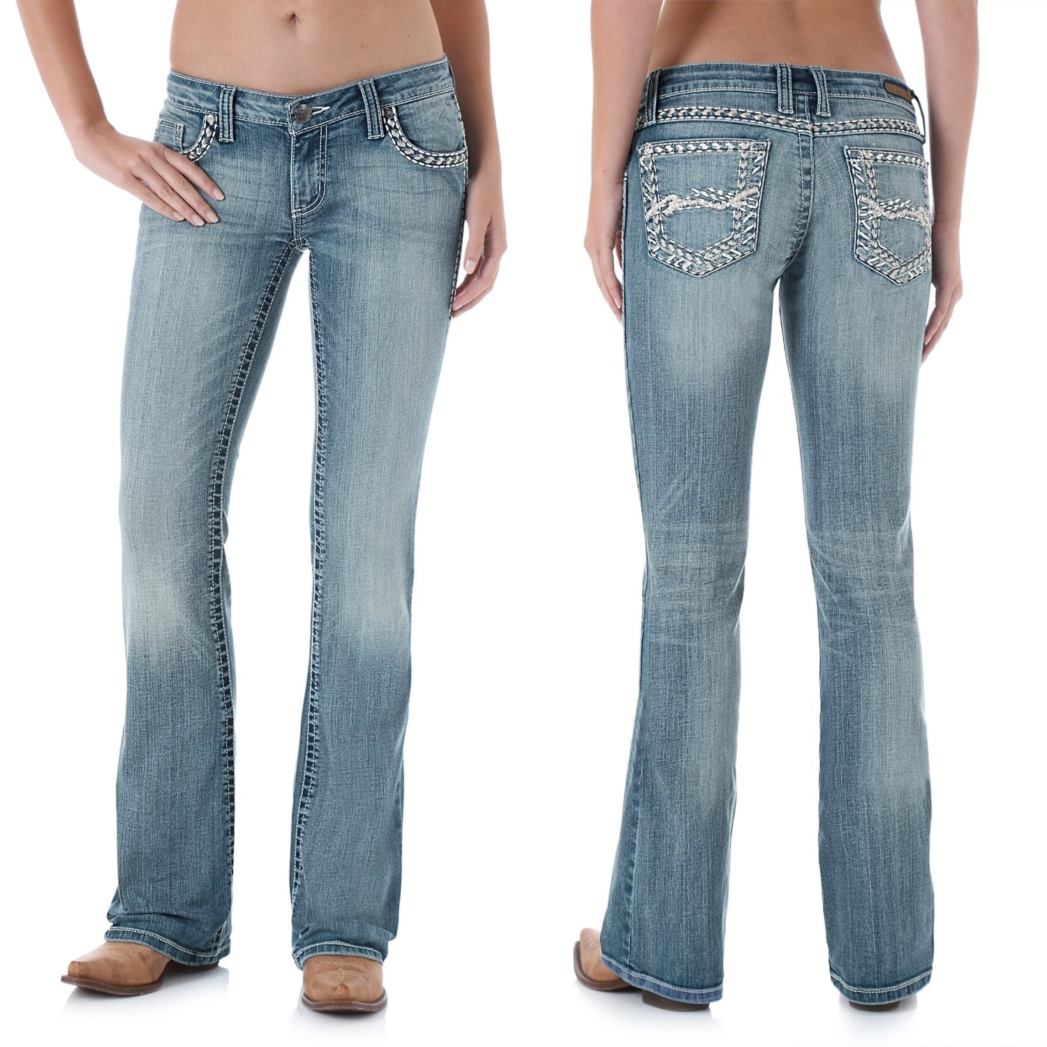 Wrangler Rock 47 Ultra Low Rise Jeans  For Women