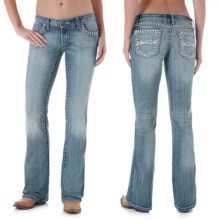 Wrangler Rock 47 Ultra Low Rise Jeans (For Women) in Km Wash - 2nds