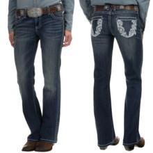 Wrangler Rock 47 Ultra Low Rise Jeans (For Women) in Phoenix Wash - 2nds
