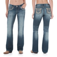 Wrangler Rock 47 Ultra Low Rise Jeans (For Women) in Trail Dust - 2nds