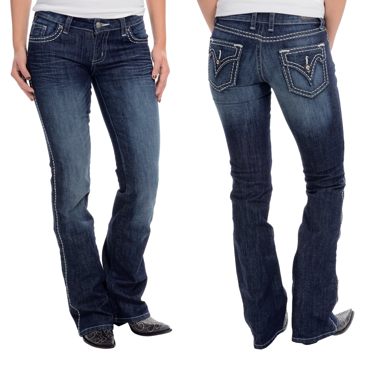Wrangler Rock 47 Ultra Low Rise Jeans (For Women)