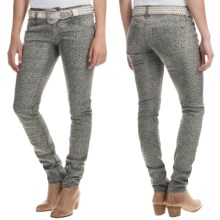 Wrangler Rock 47 Western Bling Jeans - Low Rise, Bootcut (For Women) in Grey Leopard - Closeouts