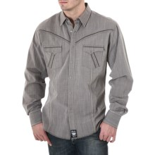 Wrangler Rock 47 Western Shirt -  Snap Front, Long Sleeve (For Men) in Grey - Closeouts