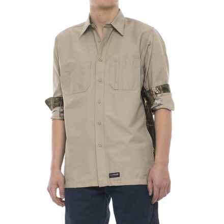 Wrangler Rugged Canvas Camo Trim Work Shirt - Long Sleeve (For Men) in Khaki/Camo - Closeouts