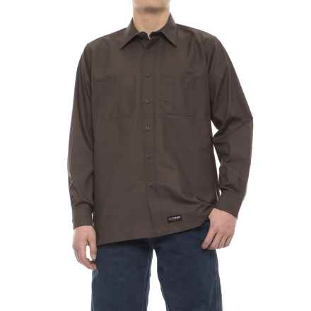 Wrangler Rugged Canvas Work Shirt - Long Sleeve (For Men) in Brown - Closeouts