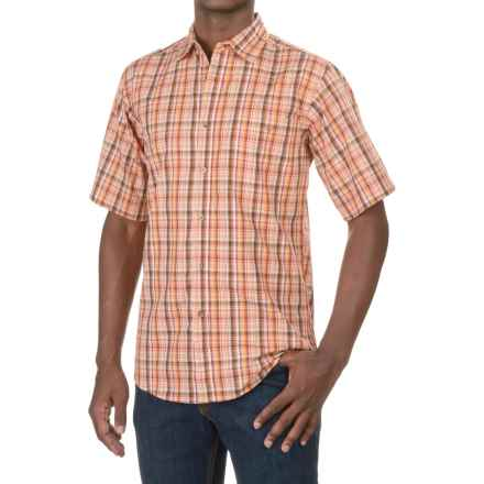 Wrangler Rugged Wear Moisture-Wicking Shirt - Short Sleeve (For Men) in Orange - Closeouts