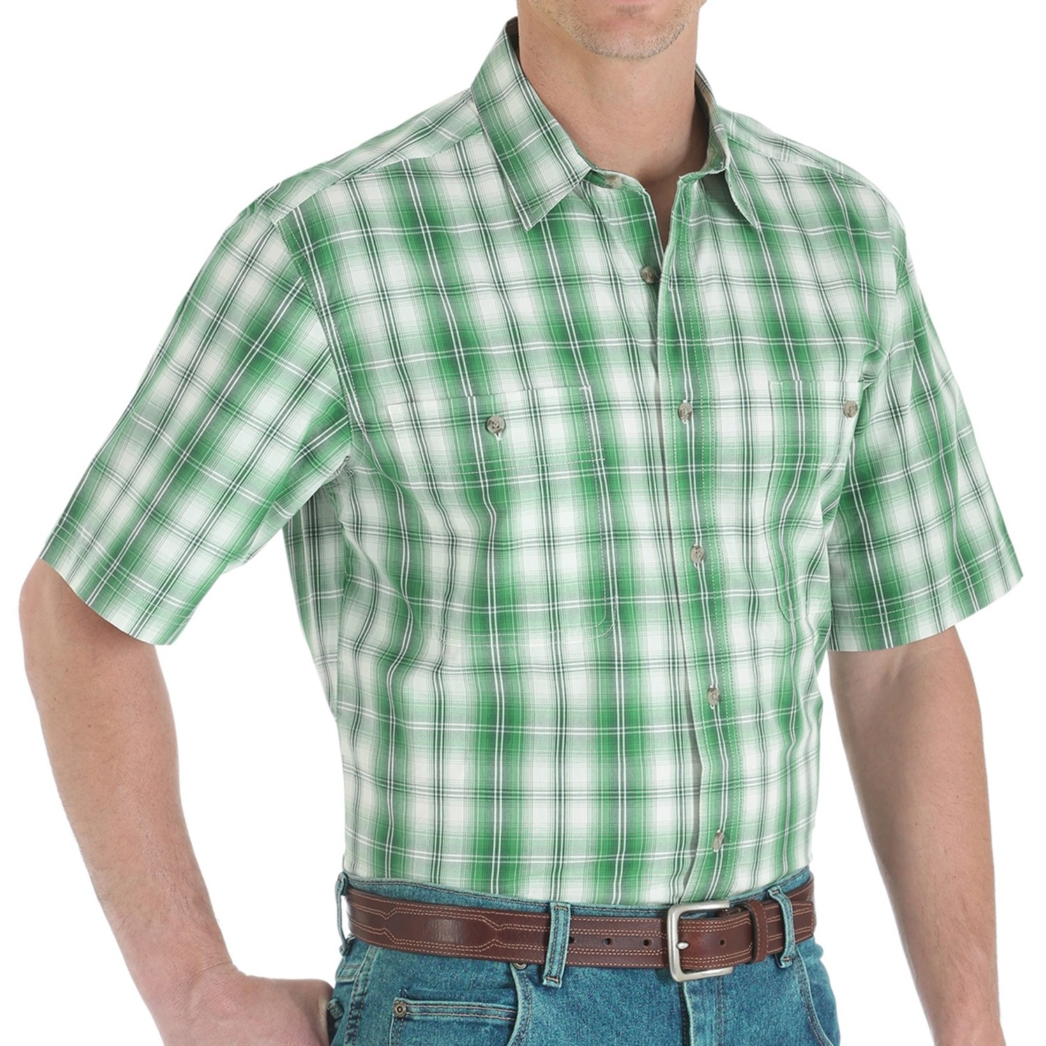 Green plaid short sleeve shirt images Short sleeve plaid shirts