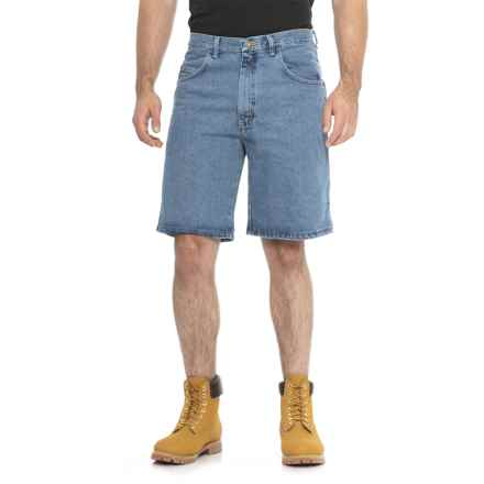 Wrangler Rugged Wear Relaxed Denim Shorts (For Men) in Stonewash - 2nds
