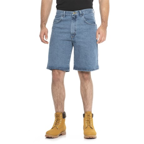 Wrangler Rugged Wear Relaxed Denim Shorts (For Men) in Stonewash