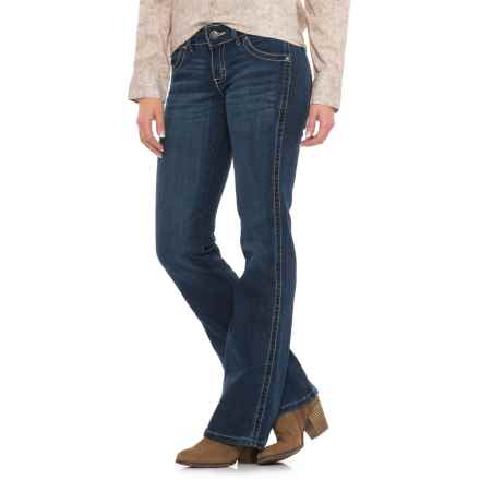 Wrangler Sadie Low-Rise Jeans - Bootcut, Stretch Denim (For Women) in True Blue - Closeouts