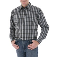 Wrangler Silver Edition Fancy Western Shirt - Long Sleeve (For Men) in Black/Grey Dobby Plaid - Closeouts