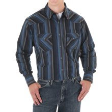 Wrangler Silver Edition Stripe Western Shirt - Long Sleeve (For Men) in Blue - Closeouts