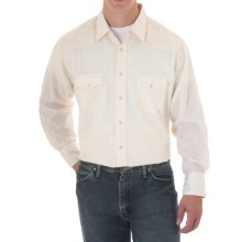 Wrangler Silver Edition Subtle Stripe Western Shirt - Snap Front, Long Sleeve (For Men) in Cream - Closeouts