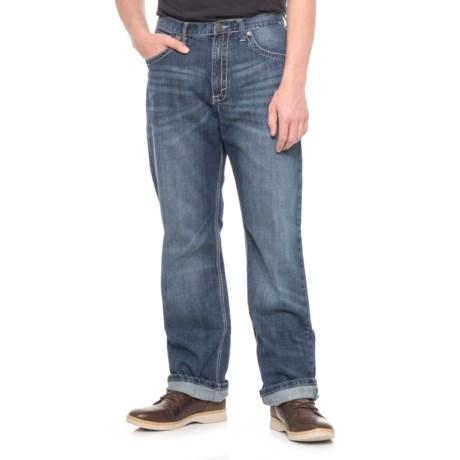 Wrangler Straight-Leg Jeans (For Men) in Worn Blue