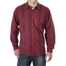 Wrangler Stripe Western Shirt - Snap Front, Long Sleeve (For Men) in Red - Closeouts
