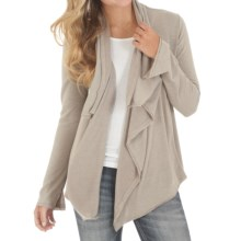 Wrangler Studded Cardigan Sweater - Open Front (For Women) in Oatmeal - Closeouts