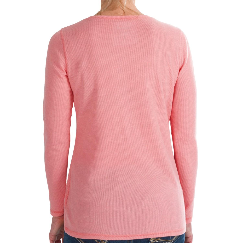 Wrangler thermal henley shirt for women 9165r save 47 for Thermal shirt for women