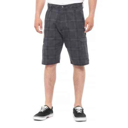 Wrangler Twill Denim Shorts (For Men) in Charcoal Plaid - 2nds