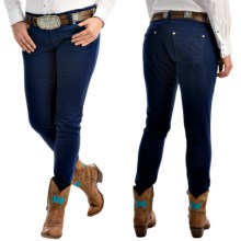 Wrangler Ultra Low-Rise Patch Jeans (For Women) in Blue Denim - 2nds