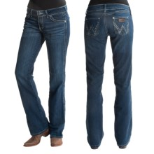 Wrangler Ultra Low-Rise Patch Jeans (For Women) in True Blue - 2nds