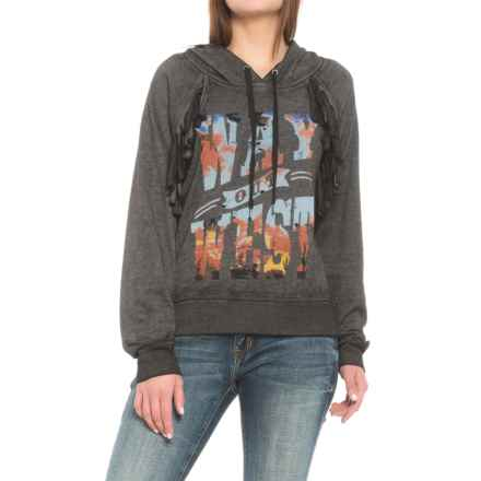 Wrangler Way Out West Hoodie (For Women) in Heather Charcoal - Closeouts