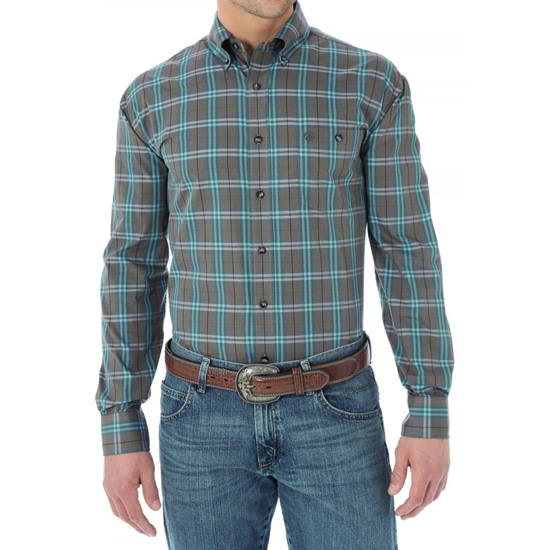 wrangler western fashion plaid shirt for men and big men