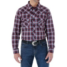 Wrangler Western Jean Plaid Shirt - Snap Front, Long Sleeve (For Men) in Black/Red - Closeouts