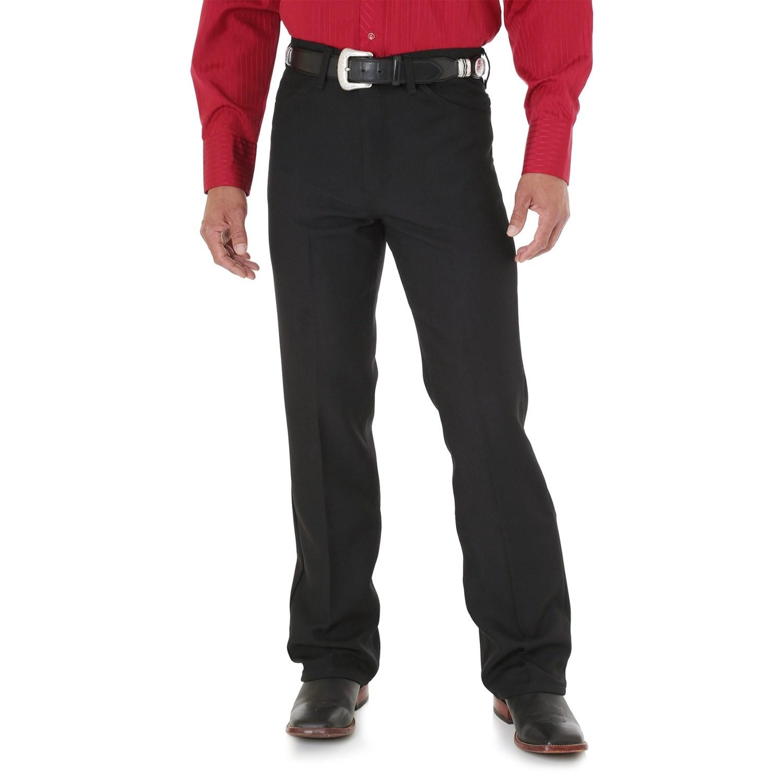 Black dress jeans - Wrangler Wrancher Dress Jeans For Men In Black