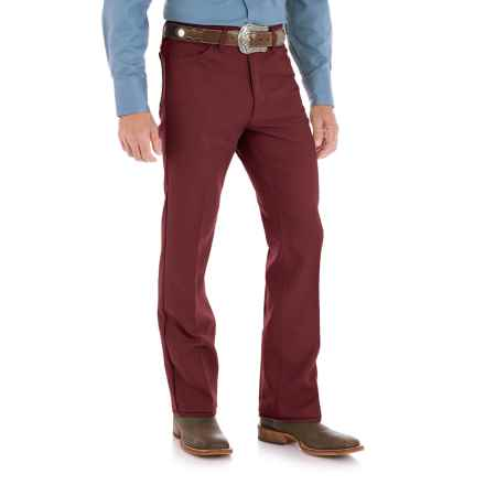 Wrangler Wrancher Dress Jeans (For Men) in Burgundy - 2nds
