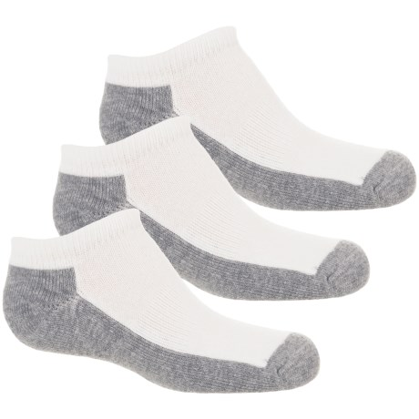 Wrangler Youth Low-Cut Socks - 3-Pack, Below the Ankle (For Boys and Girls) in White