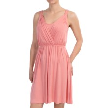 Wrap Bodice Dress - Sleeveless (For Women) in Peach - 2nds